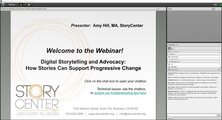 Digital Storytelling and AdvocacyWebinar